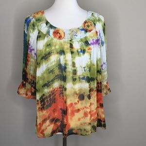 Mushka by Sienna Rose Watercolor Embellished Top L